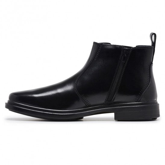 Hush Puppies Deacon Black Mens Dress Boot Zip Side