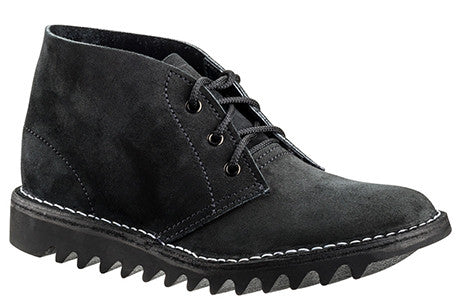 Rossi Boots 4046 Original Ripple Sole Desert Boot Black Suede (bkgris)