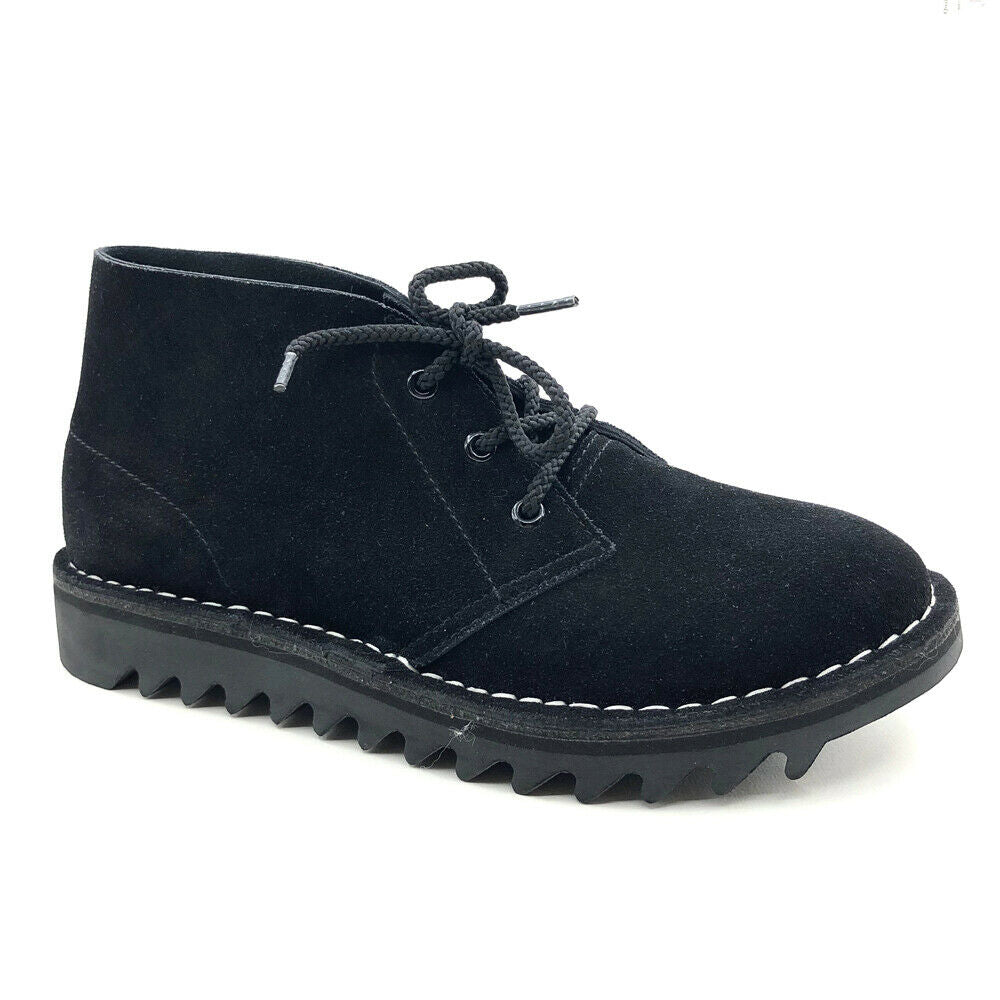 Rollers Ripple Sole Desert Boots DB's Black Suede