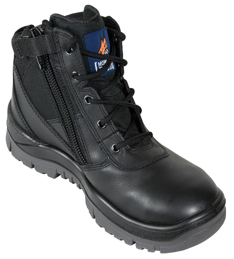 Mongrel Boots SP ZipSiders 261020 - Black ZipSider Work boot