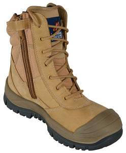 Mongrel 4 Series PU/TPU Scuff Cap 451050 Wheat High ZipSider Work boot (wolary)