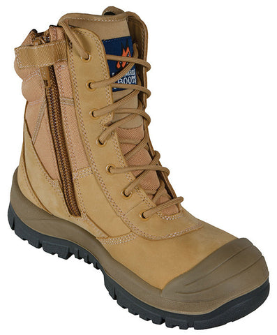 Mongrel 4 Series PU/TPU Scuff Cap 451050 Wheat High ZipSider Work boot
