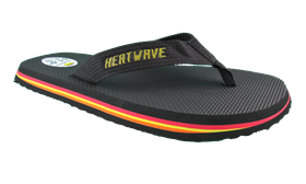 Heatwave Flair Thong Black/orange Men's & Kids Thongs / Flip Flops