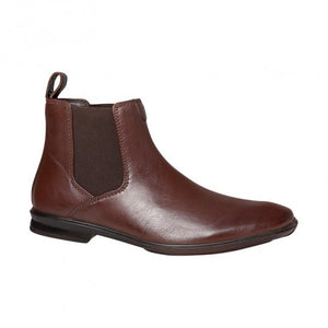 Hush Puppies Chelsea Mens Elastic Sided Pull On Boot Teak/Brown