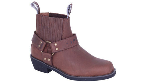 Slatters Rebel Brown Men Elastic Sided Pull On Leather Boot