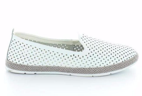 CC Resorts Remi White Ladies Flat leather Casual