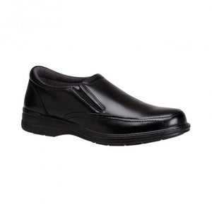 Hush Puppies Transit Black Mens Slip on Dress Shoe (bktran)