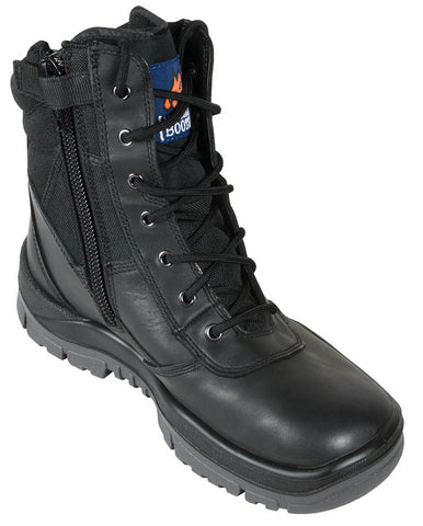 Mongrel Boots SP ZipSiders 251020 - Black High Leg ZipSider Work boot (bkvict)