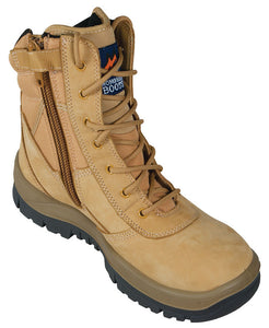 Mongrel Boots SP ZipSiders 251050 - Wheat High Leg ZipSider Work boot (wovict)