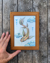 Fish - Original framed drawing