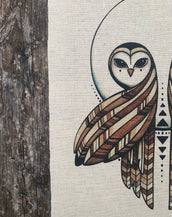 Seer Owls - Fabric Patch
