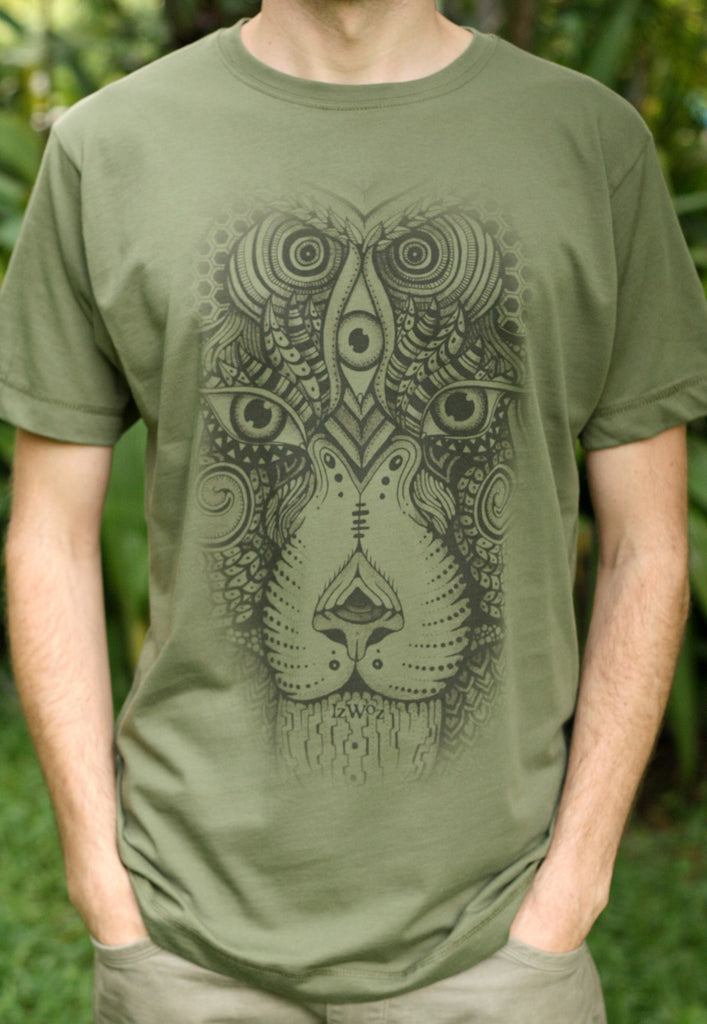 See Lion V2 - Organic Cotton Male T'Shirt