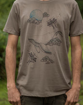 Sky Whale - Organic Cotton Male T'Shirt