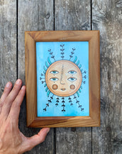 Sun - Original framed drawing