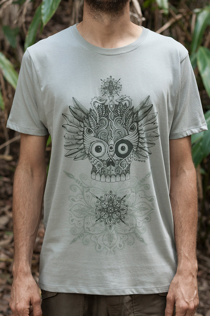 Winged Skull - Organic Cotton Male T'Shirt