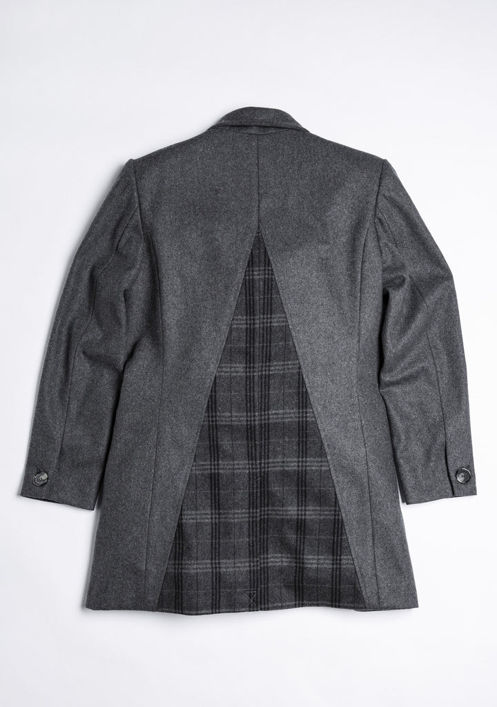 Chester Coat Triangle Style 三角剪接毛料外套