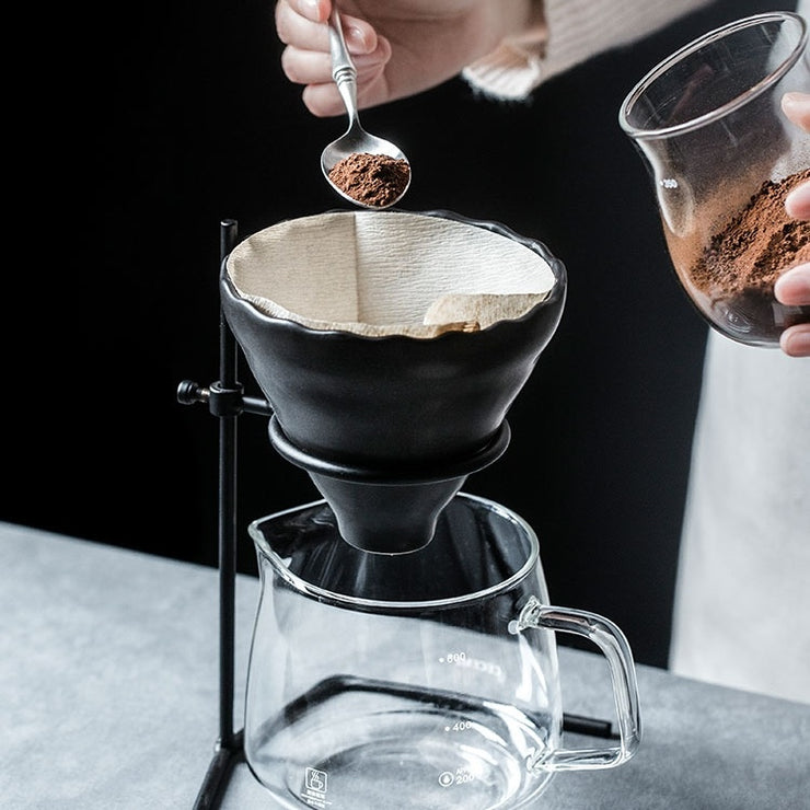 Ceramic Pour Over Filter Coffee with Server