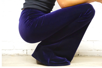 Deep Purple Velvet Flares