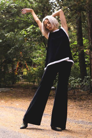 Wide Leg velvet bell bottoms flare pants