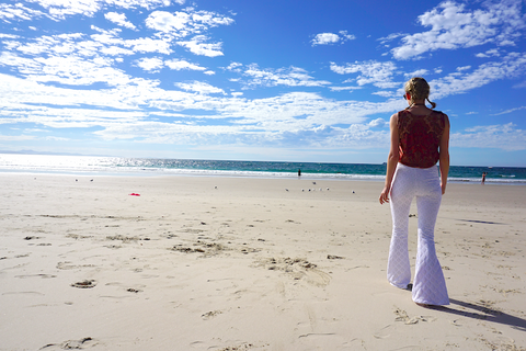 White Lace Flares Byron Bay Ocean