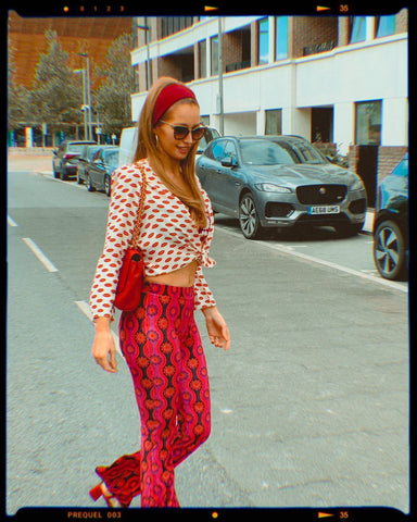 Pink Ophir Flares Flare Street Bell Bottoms London
