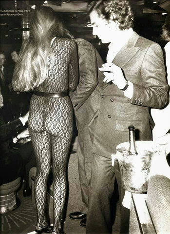 Studio 54 Flare Street Jerry Hall See through pants