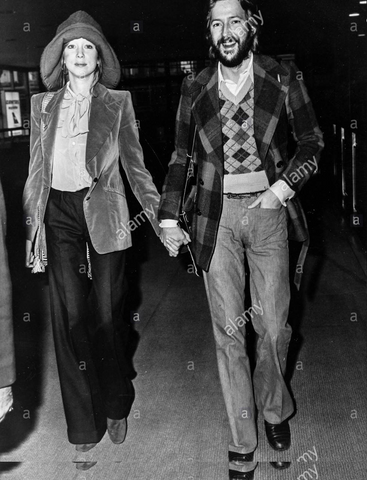 Pattie Boyd Blue Jacket Eric Clapton