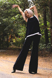 Plain Velvet Flares - Wide Leg Black
