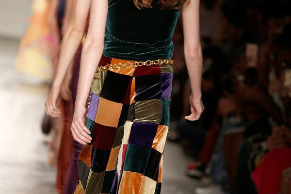 Patchwork Authentic 70's Style Velvet Flares