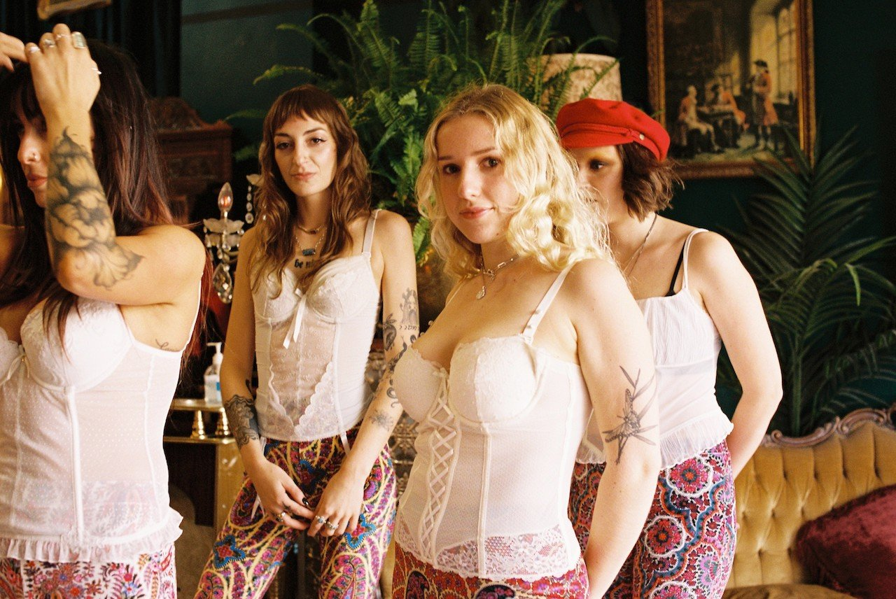 Pink Sequin Bell Bottoms Flare Street Flares