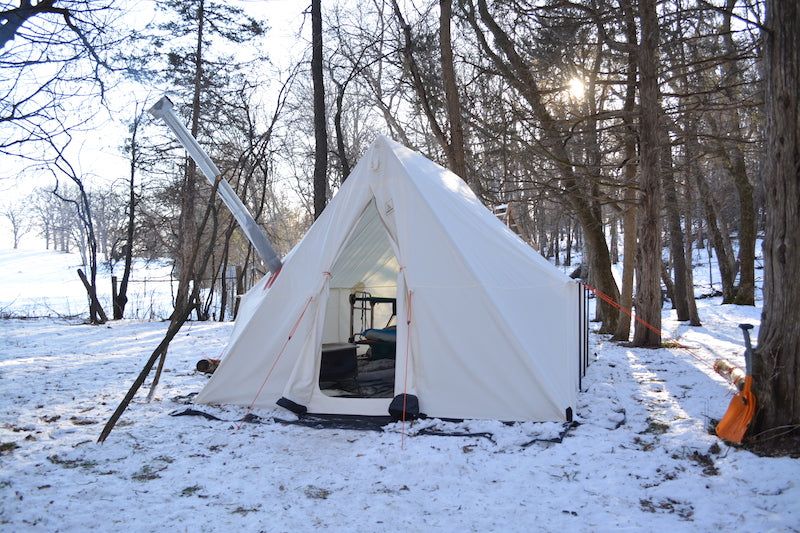 Stay Warm Winter C&ing in a Hot Tent & Stay Warm Winter Camping in a Hot Tent - DIRO Outdoors
