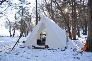 Stay Warm Winter Camping in a Hot Tent