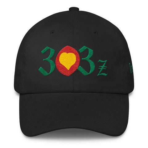 303zTreez Dad Caps Black City Love Classic Dad Cap