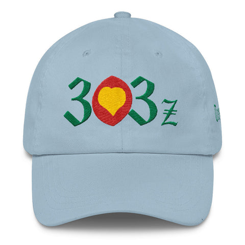 303zTreez Dad Caps Light Blue City Love Classic Dad Cap
