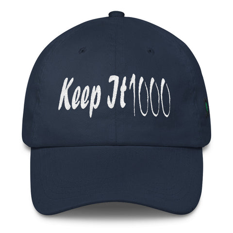 303zTreez Dad Caps Navy Keep It 1000 Classic Dad Cap