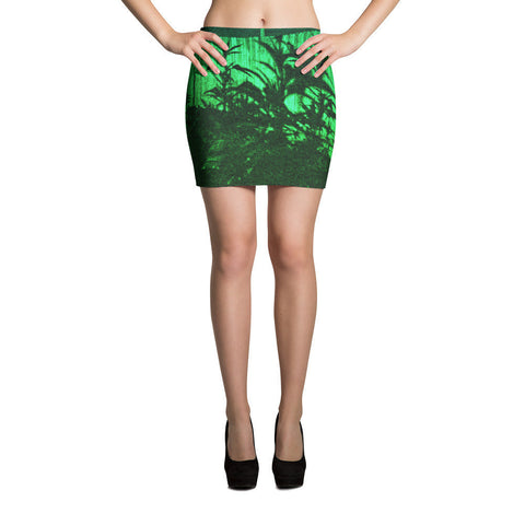 303zTreez Skirts XS Green Shadowz Cut & Sew Mini Skirts