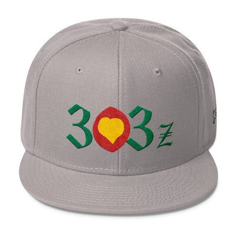 303zTreez Snapbacks Gray City Love Wool Blend Snapback