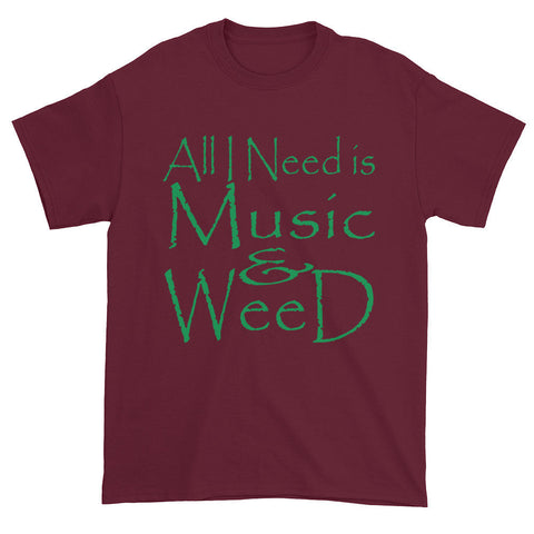 303zTreez T-Shirts Maroon / S All I Need Short sleeve t-shirt
