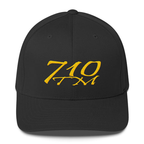 710tm Flex Fit Black / S/M 710tm Logo Flex Fit Structured Twill Cap