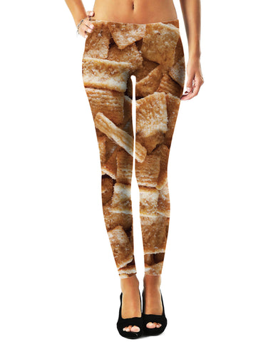 CerealKillers Leggings X-Small / Light Cyan Cinnamon Toast Crunch Leggings