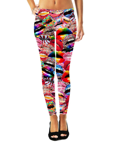 LetsRage Leggings Candy Lips Leggings