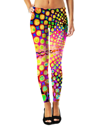 LetsRage Leggings Groovy Spots Leggings