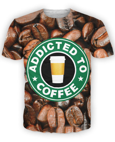 LetsRage T-Shirts Addicted to Coffee T-Shirt