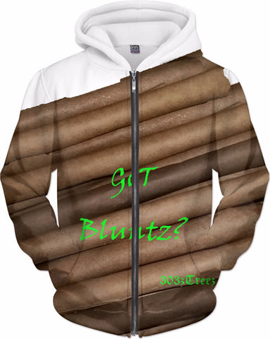 MrEz Hoodies Got Bluntz? All Over Print Zip Up Hoodie