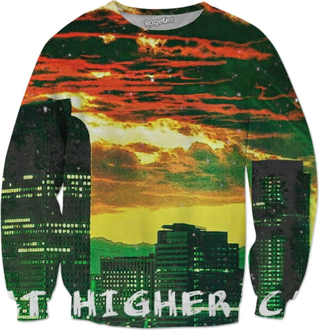 MrEz Sweatshirts Fire In Da Sky All Over Print Sweatshirt