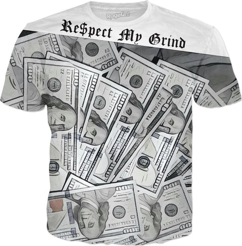 MrEz T-Shirts Respect My Grind All Over Print Tee