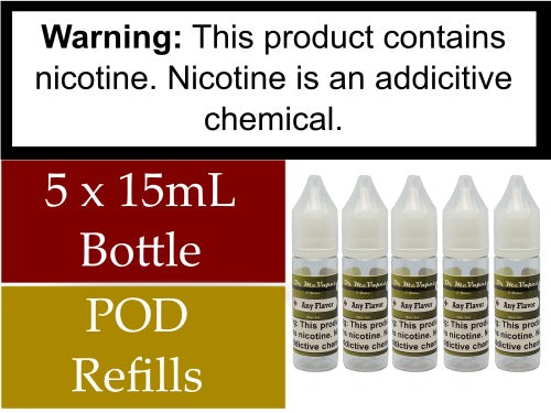 5 x 15mL Bottles for POD Refilling