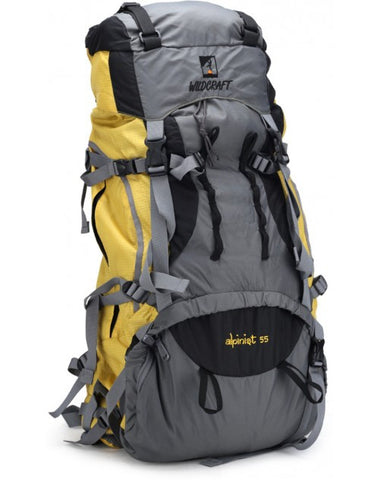 Wildcraft Alpinist Rucksack - 55 L Yellow - Adventurzz.com
