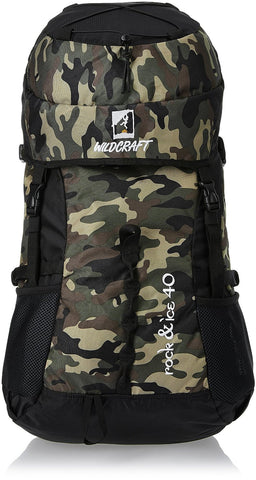 Wildcraft Rock and Ice Camo Brown 40 Ltrs Brown Rucksack (8903338019725) - Adventurzz.com