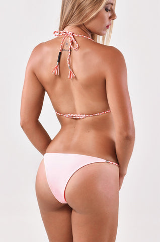 String Bottom - Coral/Pink